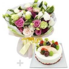 케익+꽃다발 2호