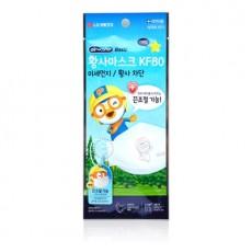 LG생활건강 airwasher KF80 뽀로로 황사마스크 소형 1매